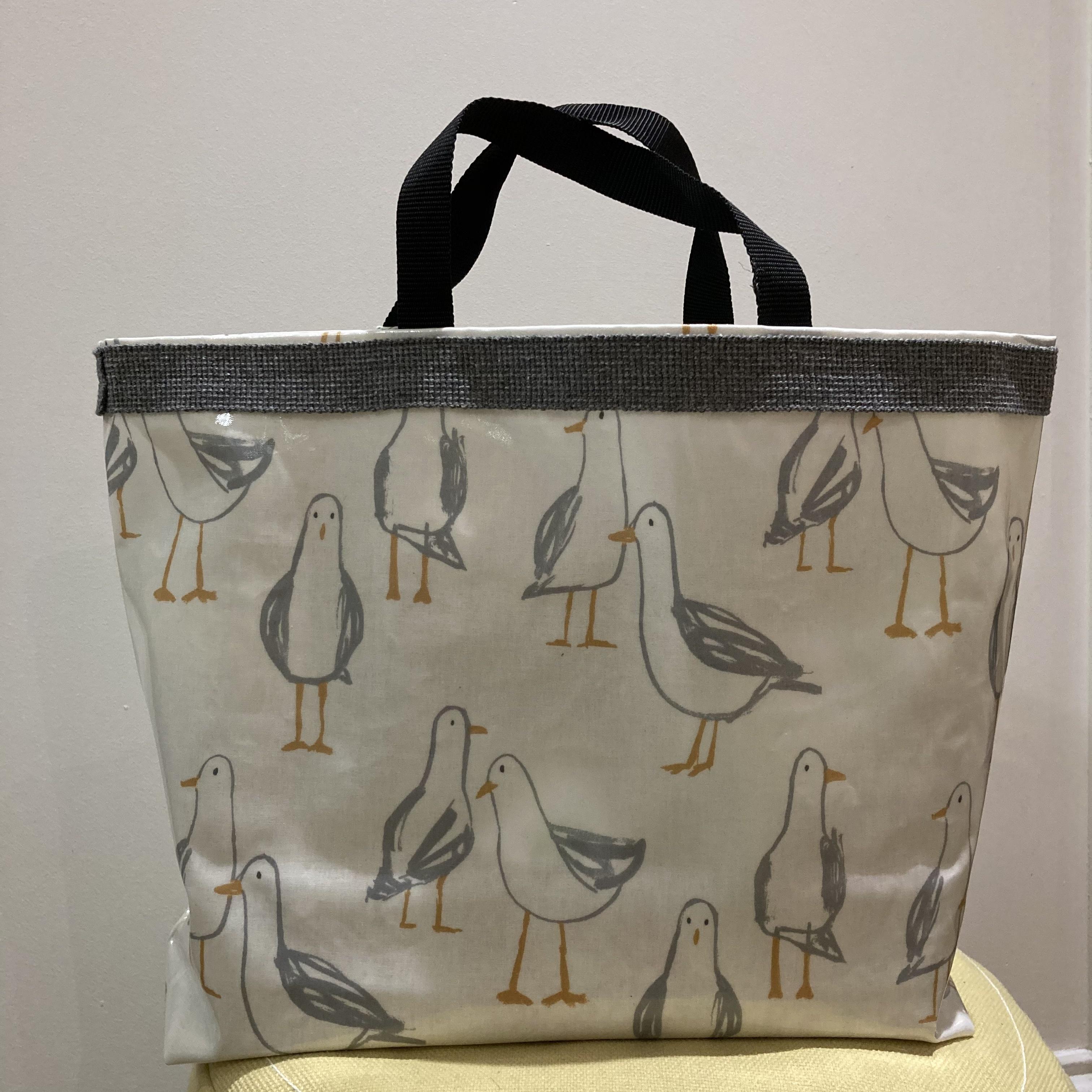 Seagull vinyl tote bag by Stella's stitchcraft
