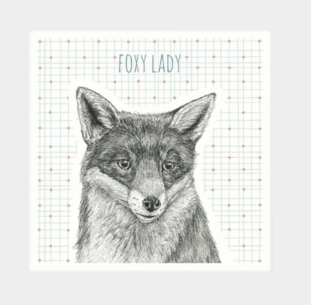 Animal coaster- foxy lady. Fox coaster by east of India