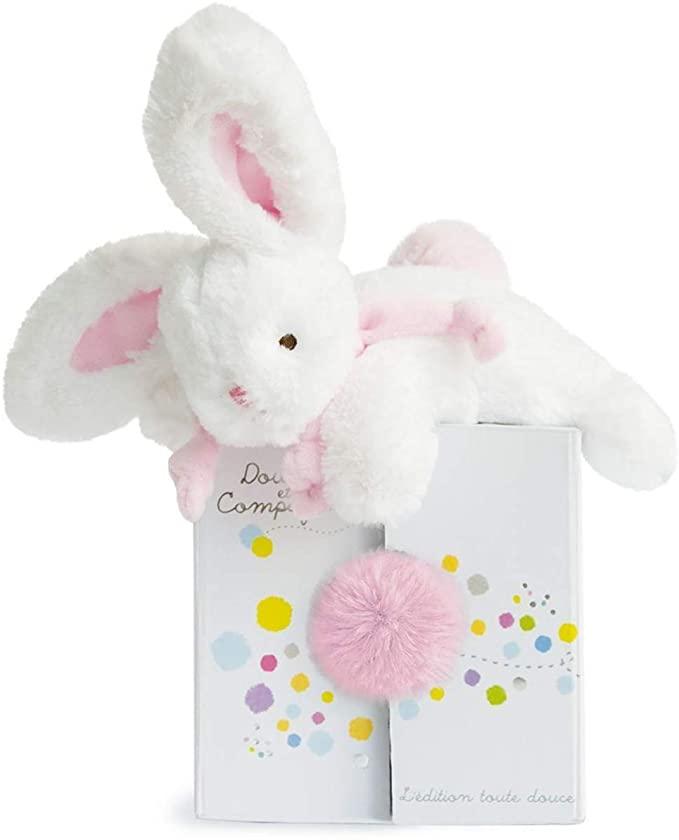 Doudou et Compagnie DC2820 Coucou Doucou Pink Rabbit Plush Toy.