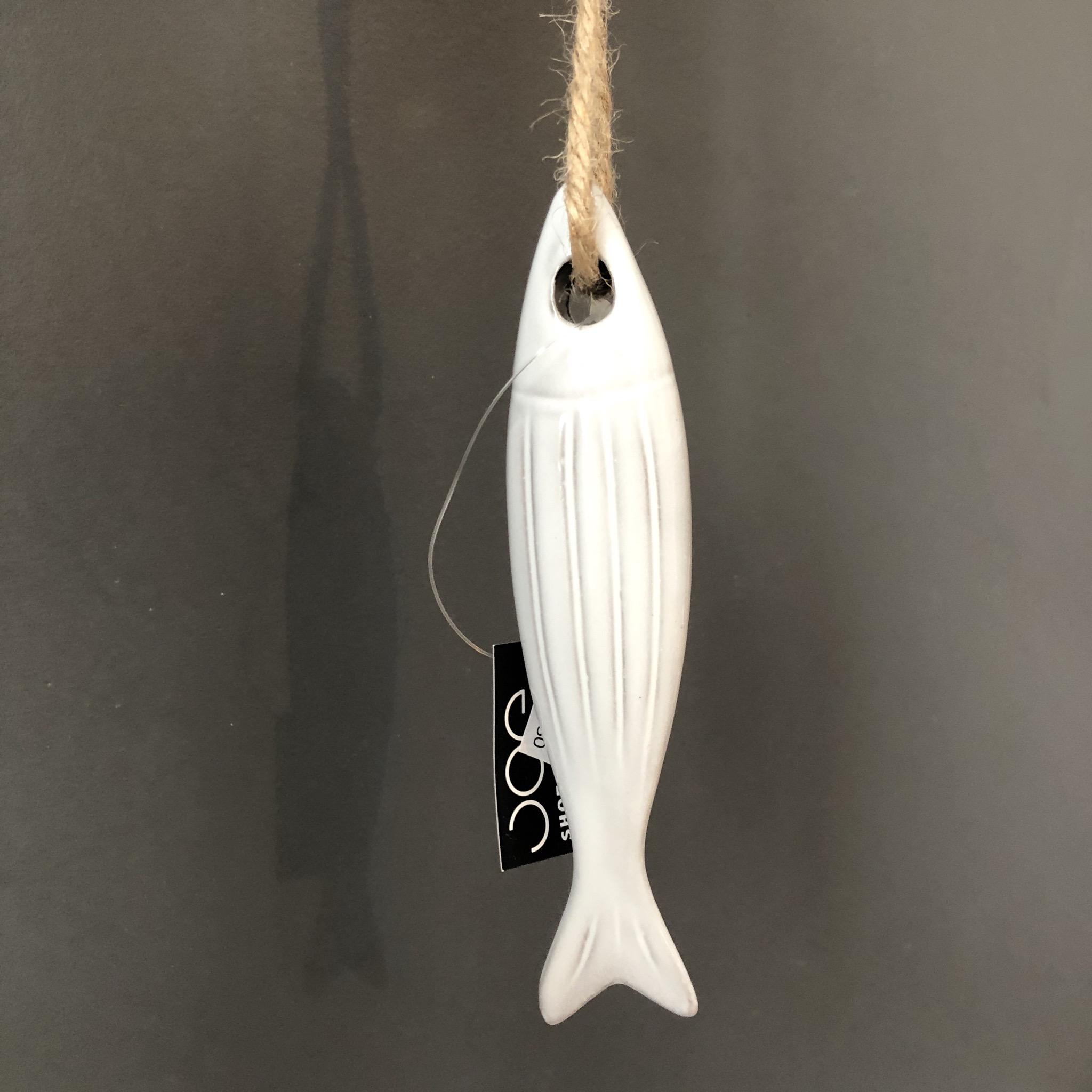 Ceramic hanging fish by shoeless joe
