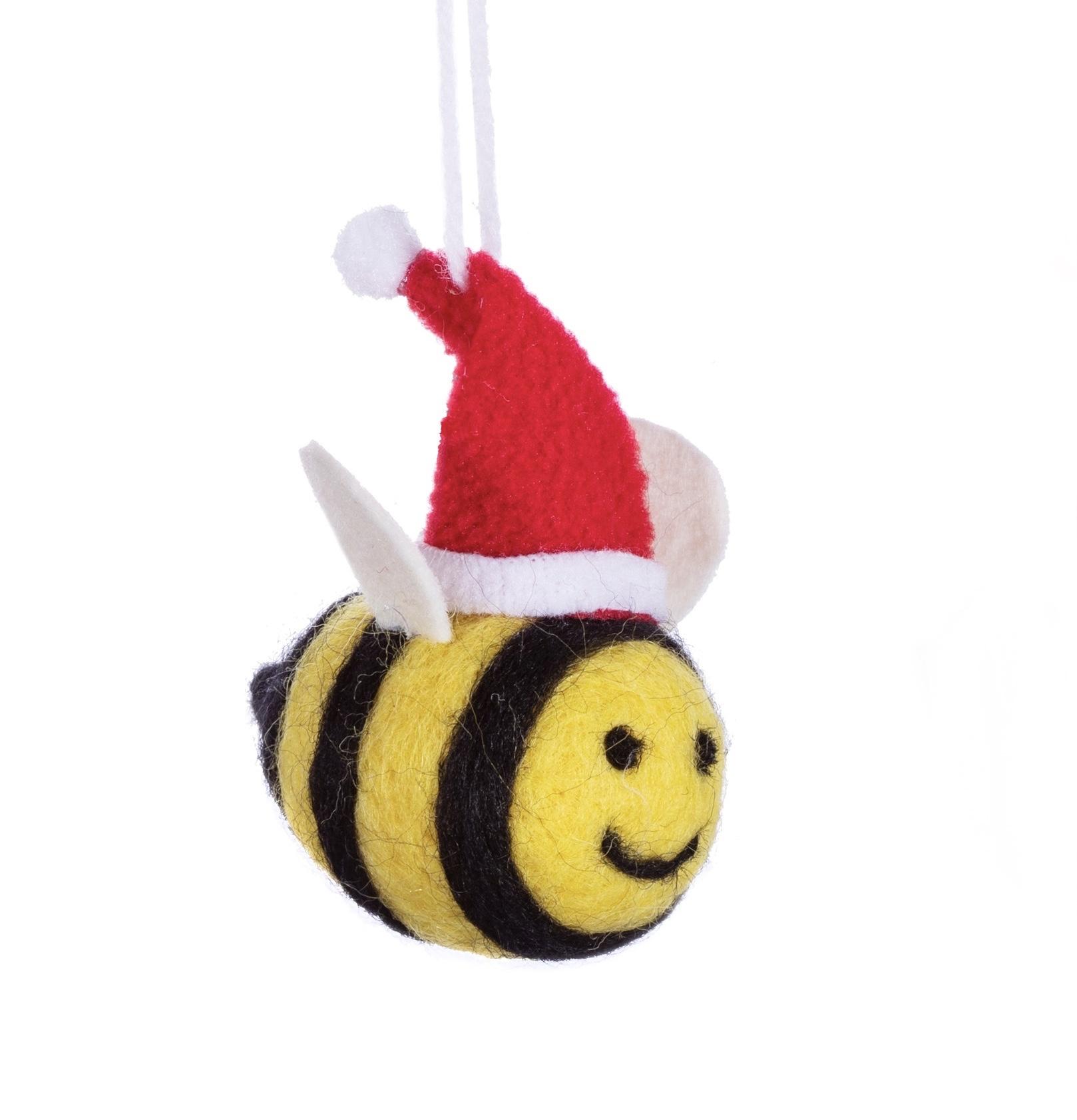 Christmas bee felt hanging decoration