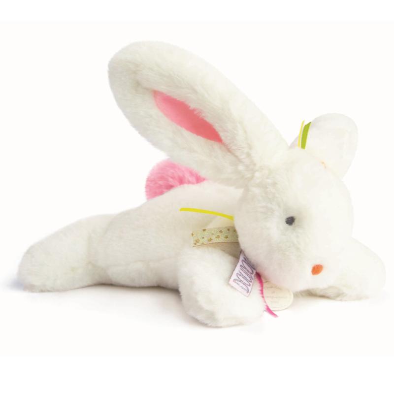 Doudou et compagnie plush Rabbit- pink ribbons.