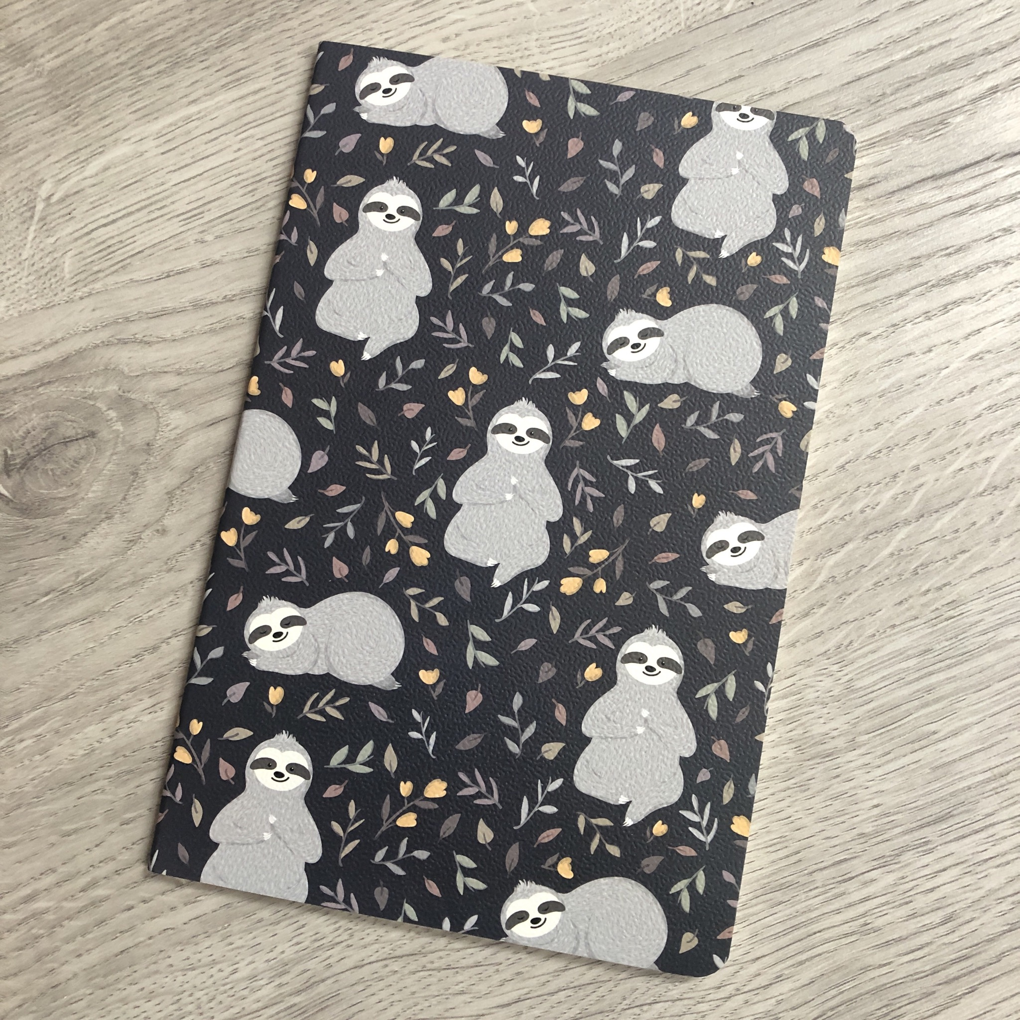 Sloth notebook. Lined paper notebook.