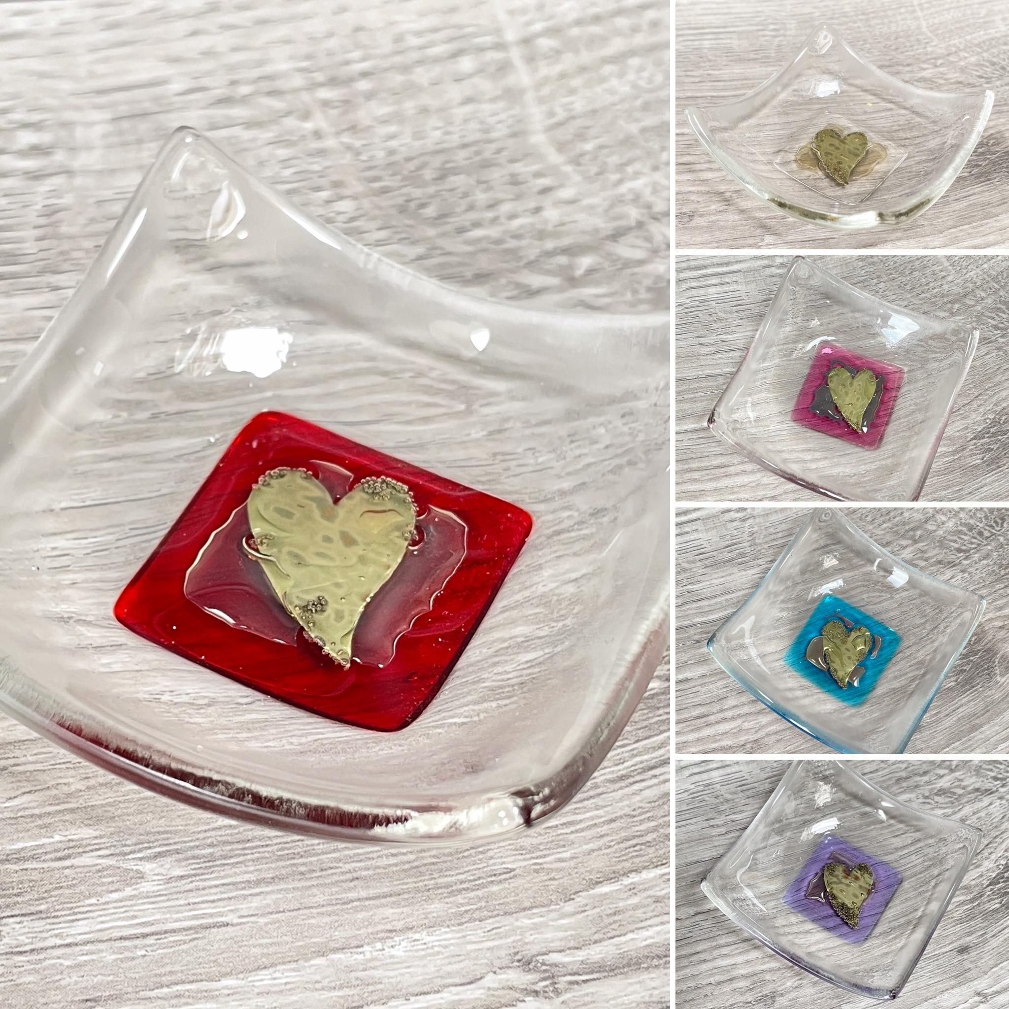 Berserks glass foil heart trinket dish (small)
