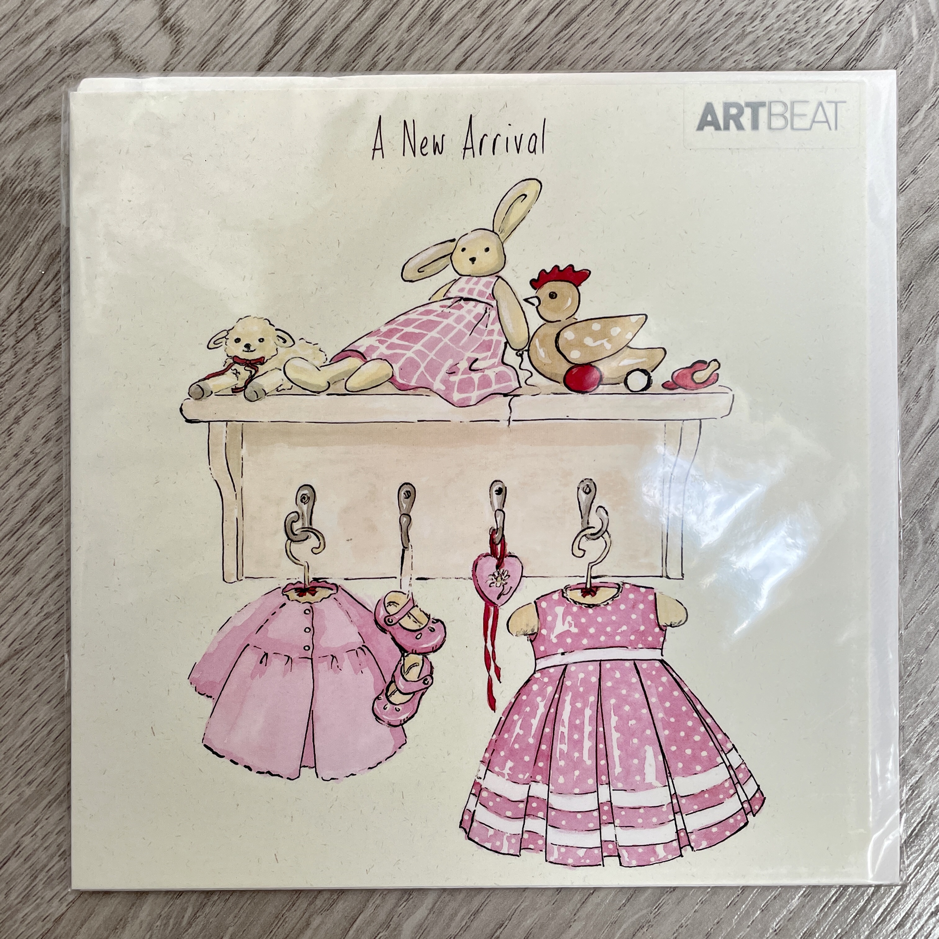 A new arrival. Baby girl card
