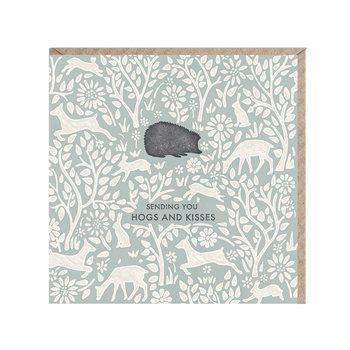 Card- sending you Hogs and Kisses. Hedgehog