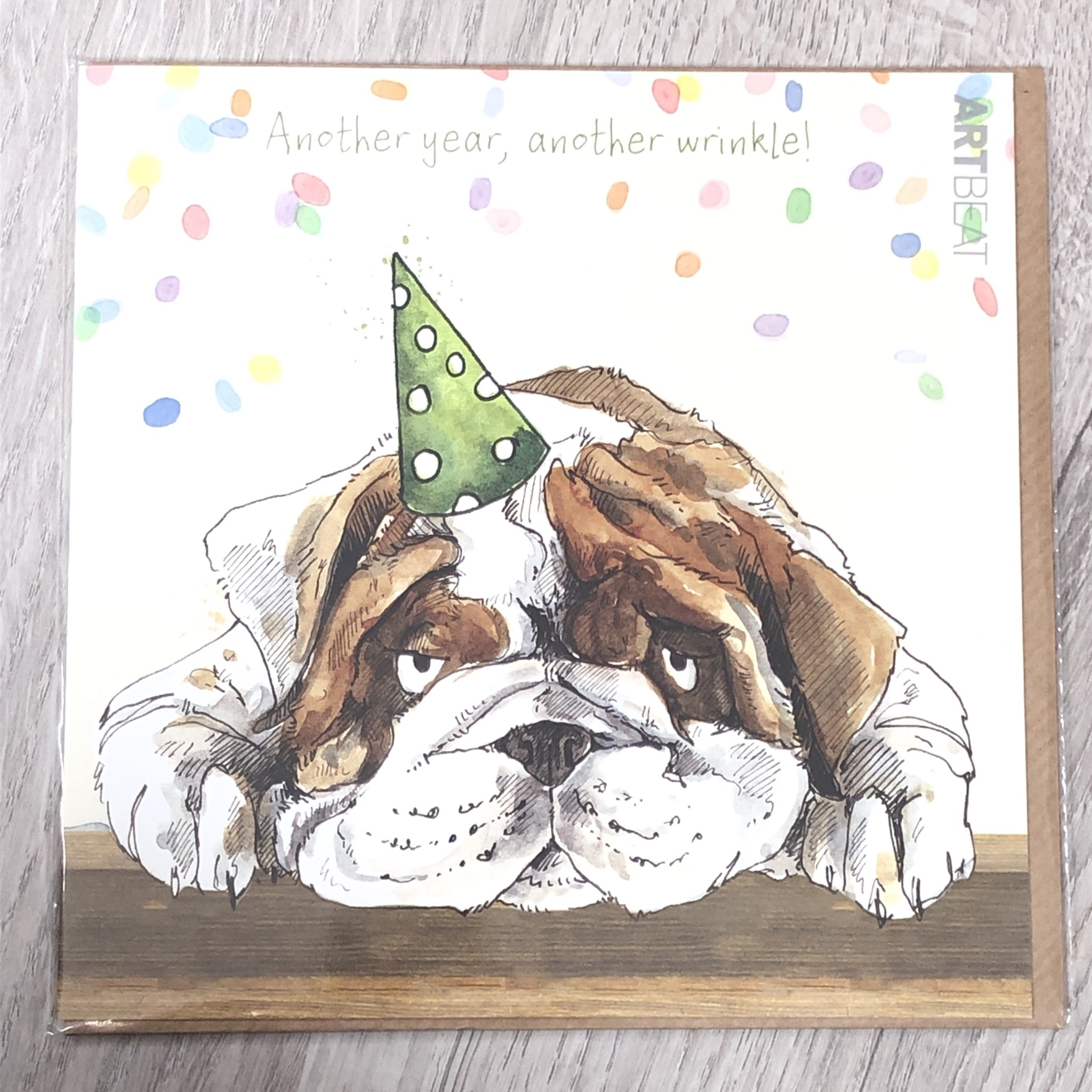 Card - Another year, another wrinkle! Dog birthday card.