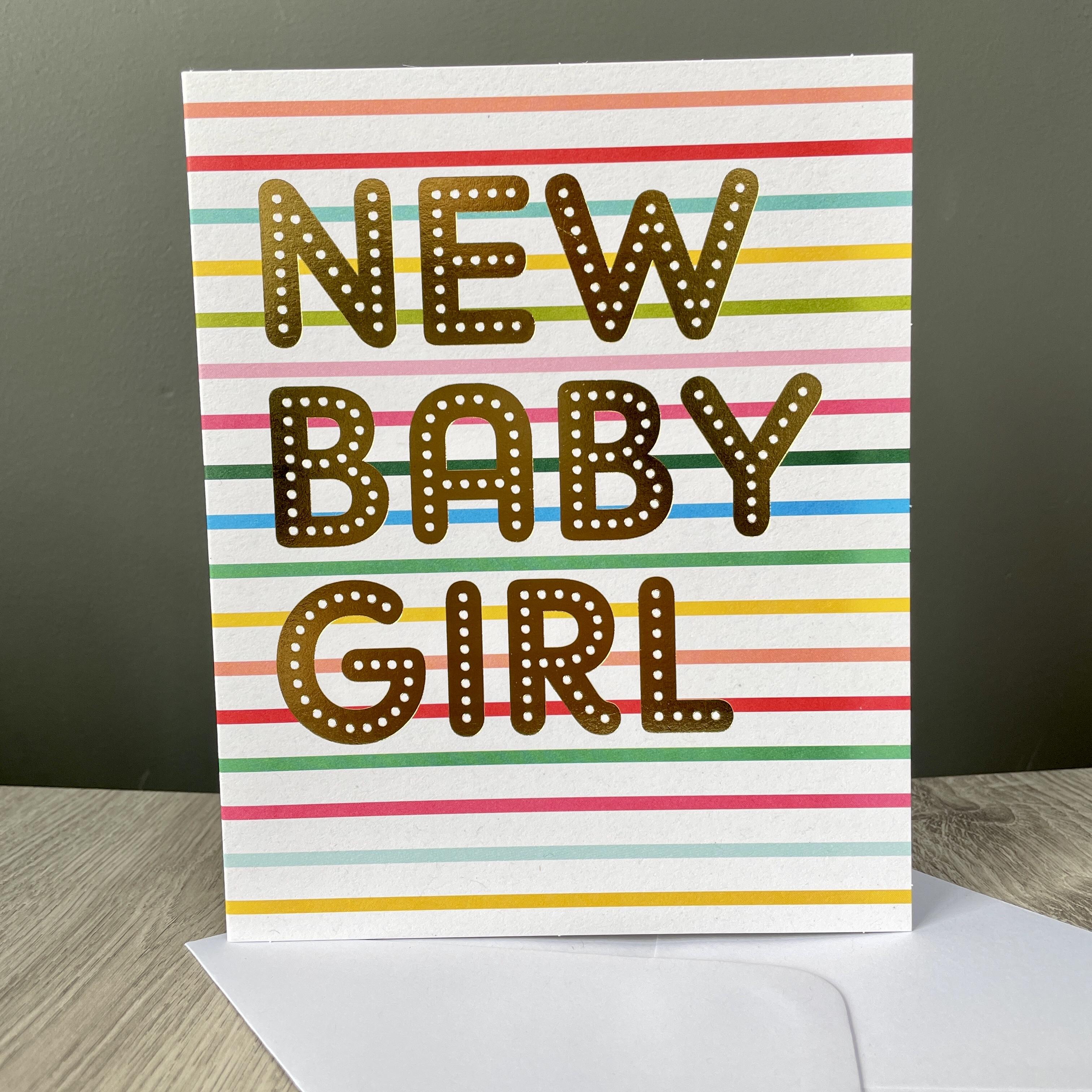 New baby girl. Striped