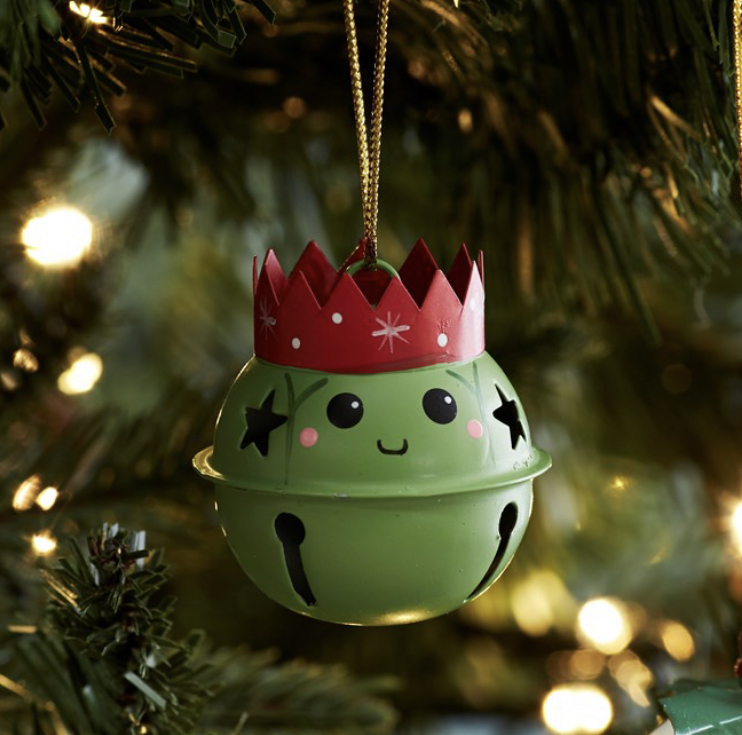 Brussel sprout hanging bell decoration by sass &belle