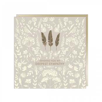 Card- feathers , sending you my deepest sympathy
