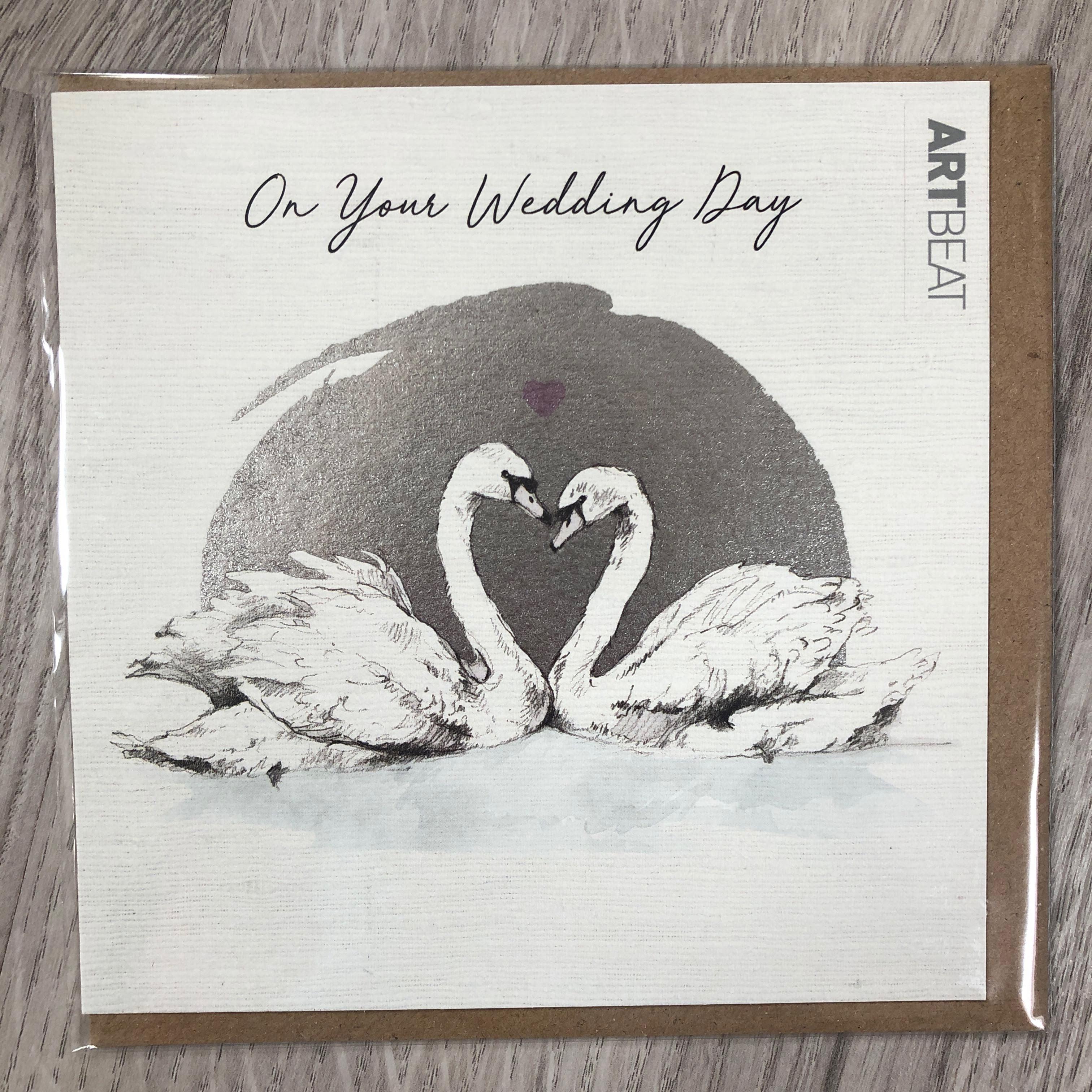 On your wedding day. Love birds