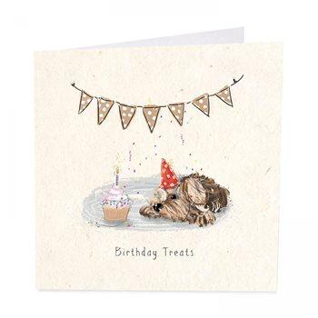 Birthday treats,dog card
