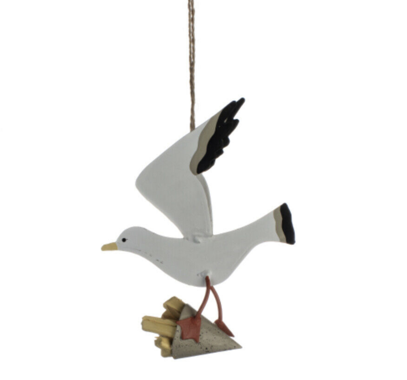 Chips for supper seagull steals chips hanging decoration by shoeless joe