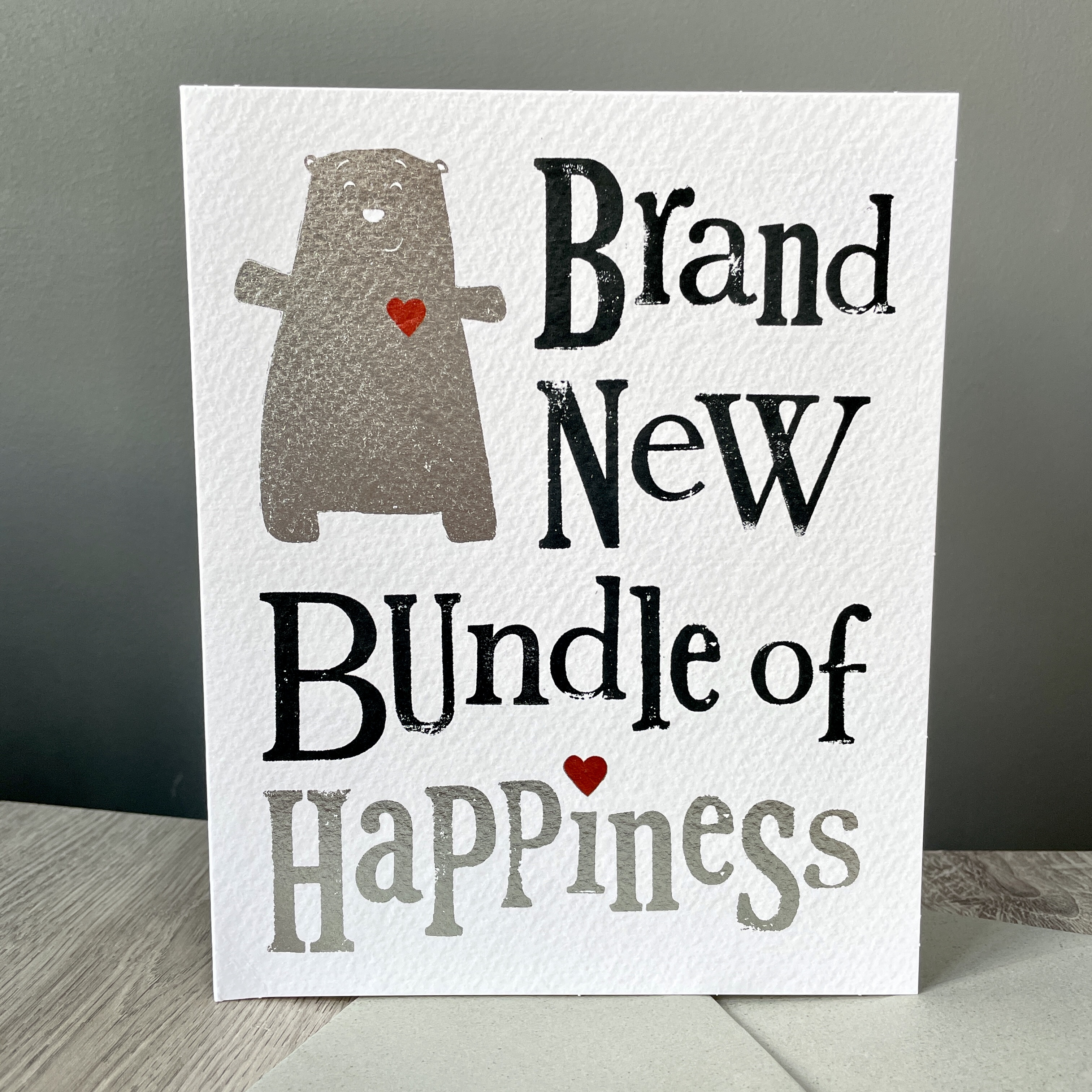 A brand new bundle of happiness. New baby card