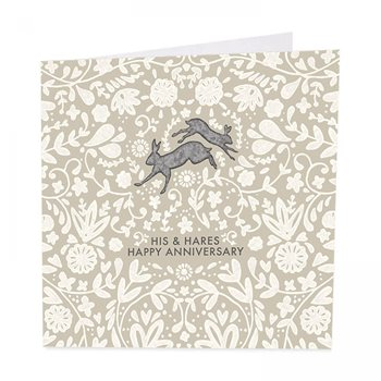 His & hares . Anniversary card by art beat