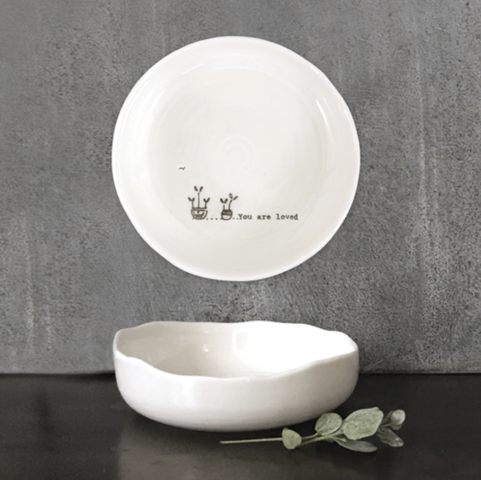 East of India trinket dish. You are loved.