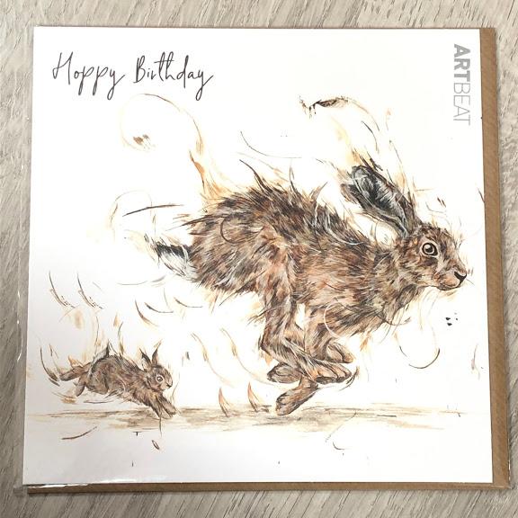 Birthday card - Hippity Hoppity