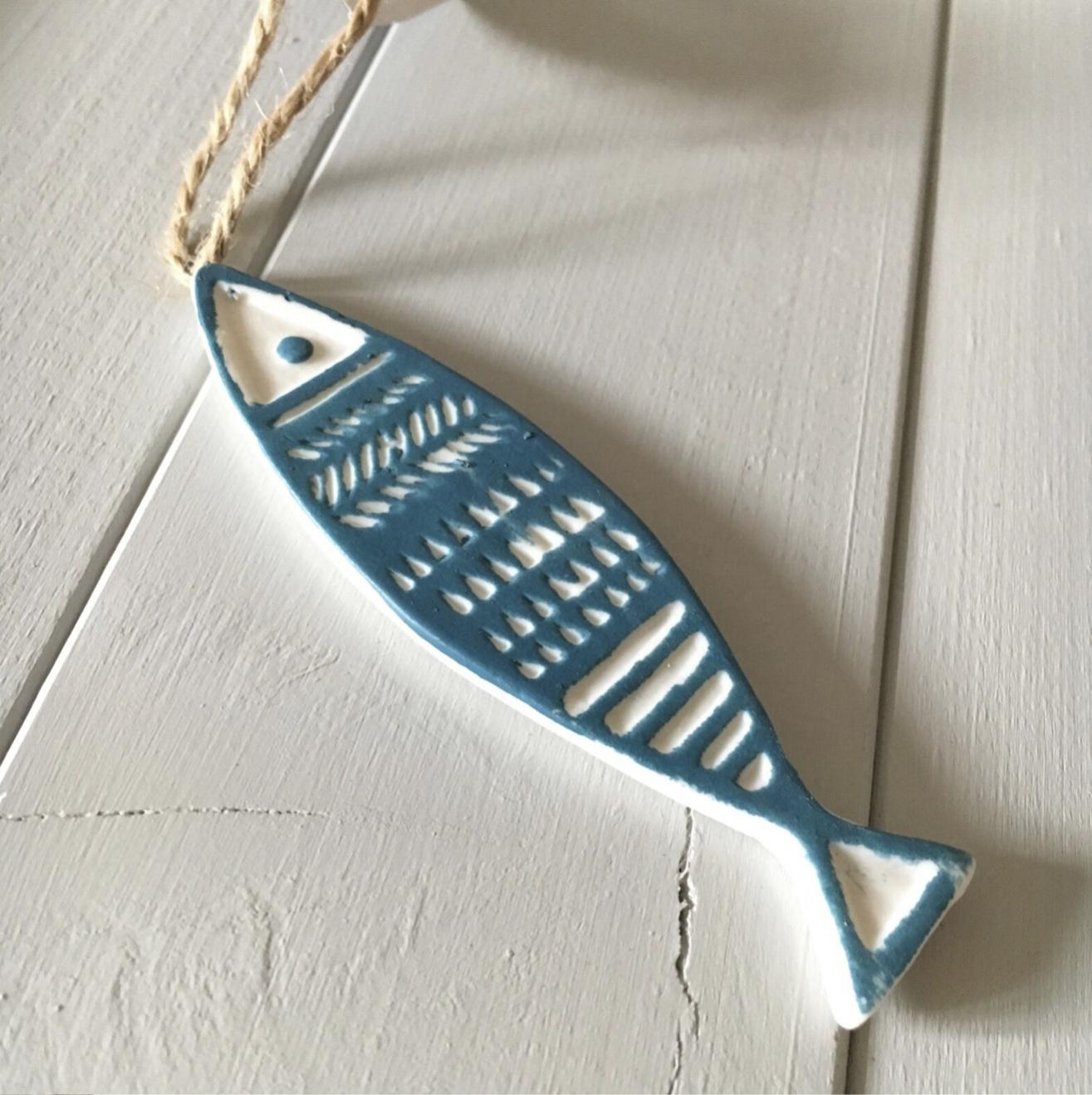 Ceramic  fish by shoeless joe