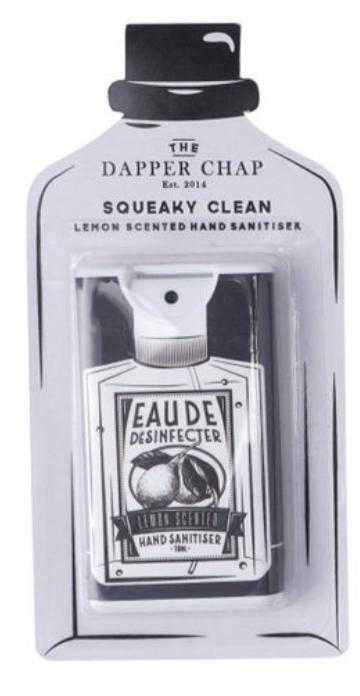 Dapper Chap 4 Assorted Hand Sanitisers. Pocket hand sanitiser