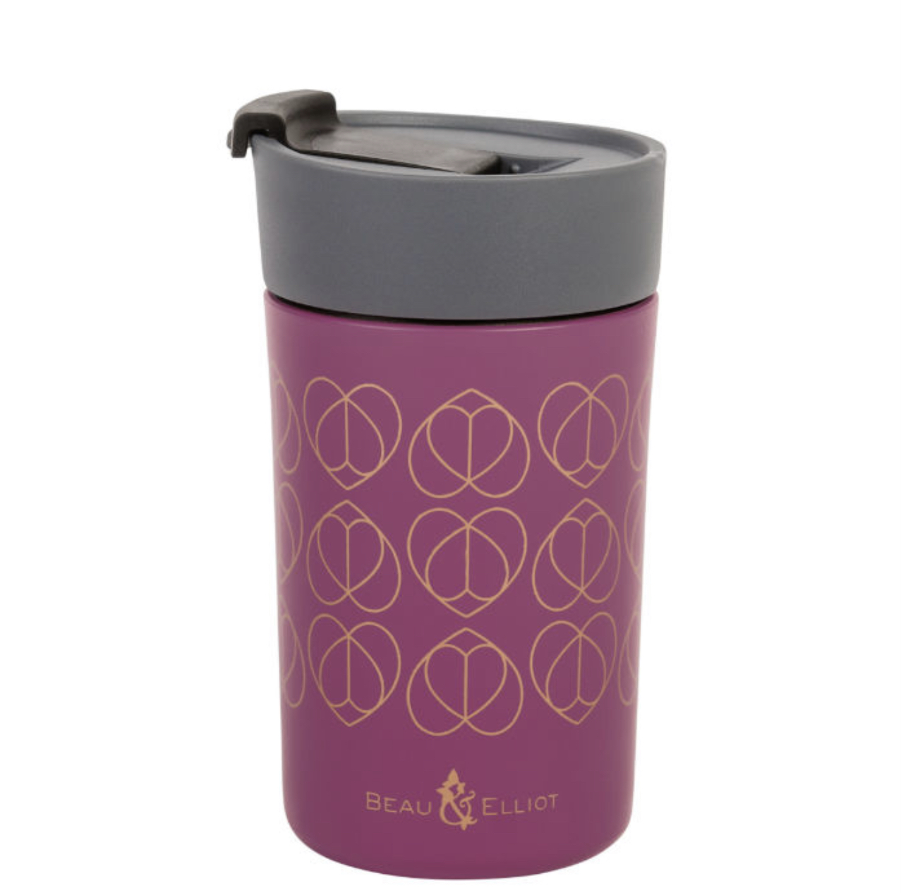 ORCHID VACUUM INSULATED TRAVEL MUG 300ML . BEAU & ELLIOT