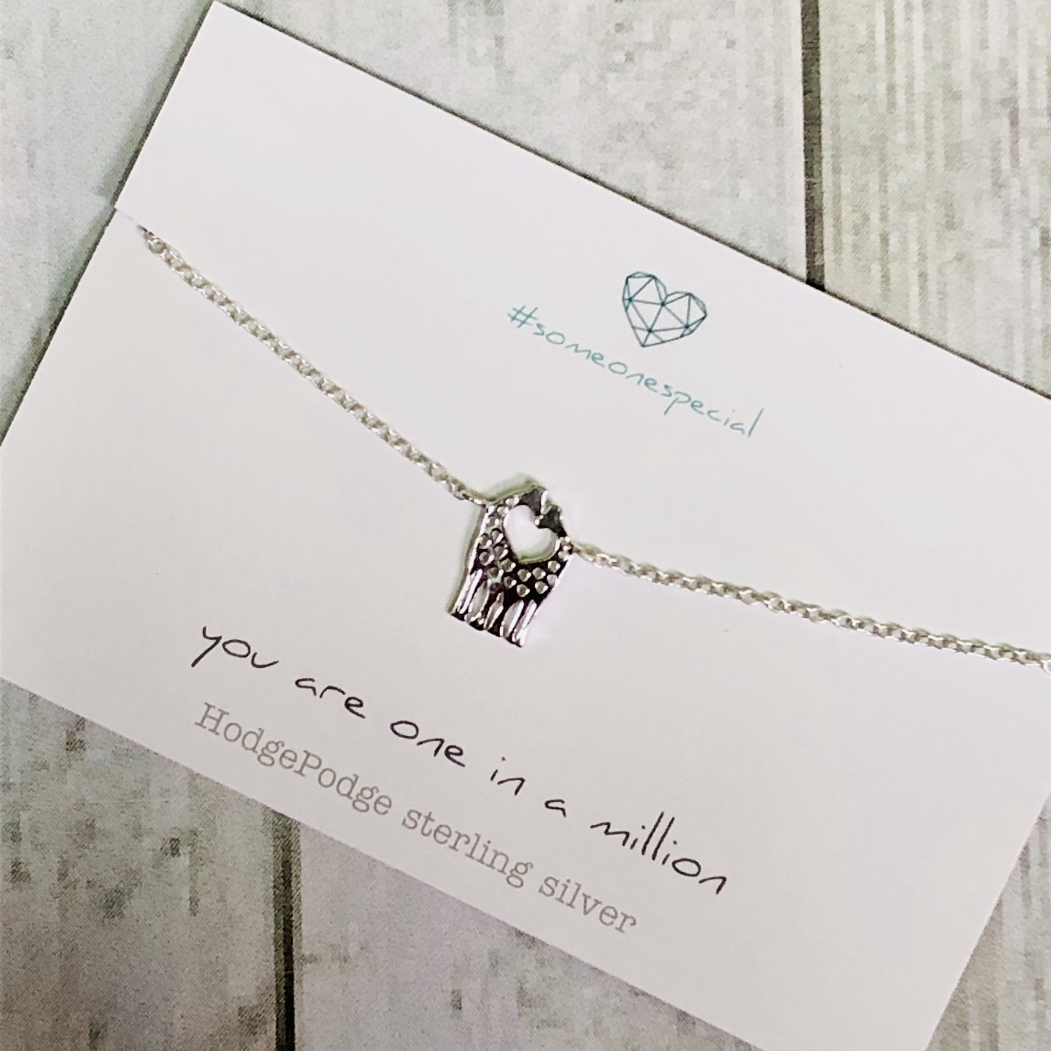 Giraffe couple necklace Sterling Silver. You are one in a million.