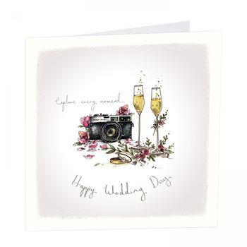 Capture every moment wedding card