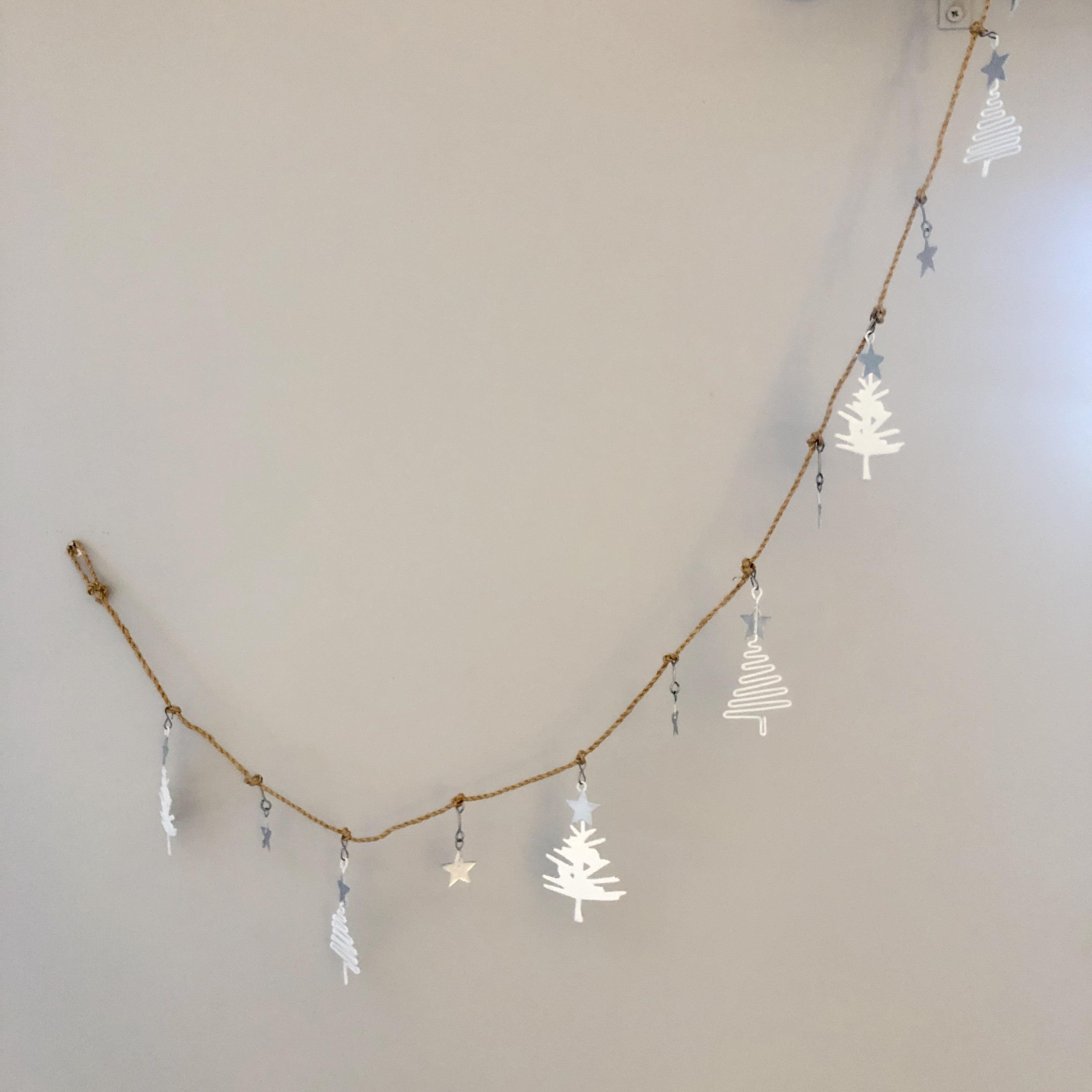 White tree Christmas garland by shoeless joe