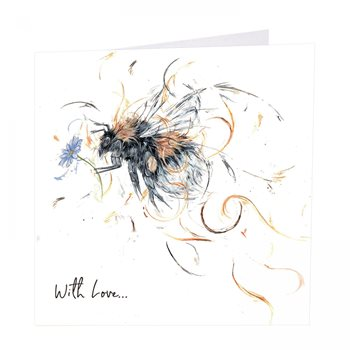Bumblebee with love card