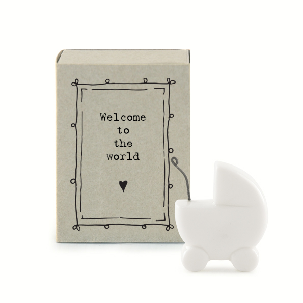 Welcome to the world. Ceramic matchbox keepsakes by east of India