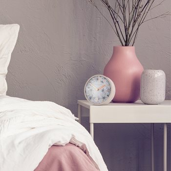 "5"" Crofter Mantel Clock Dusty Pink. Thomas Kent clocks."