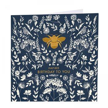 Card - Bee . Hap-bee birthday to you