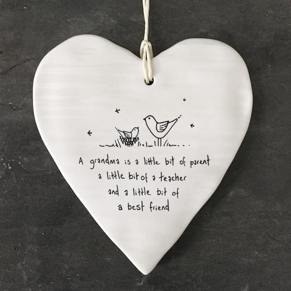 A Grandma is a little bit of a parent, a little bit of a teacher and a little bit of a best friend. East of India heart