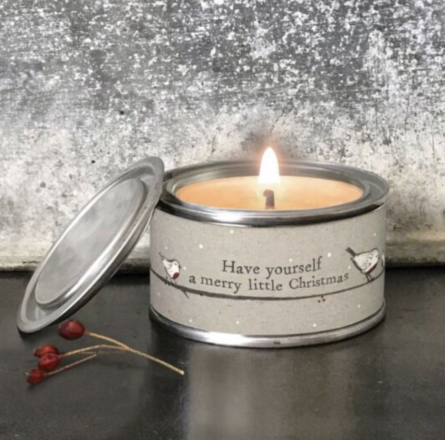 Have yourself a merry little Christmas tinned scented candle by east of India