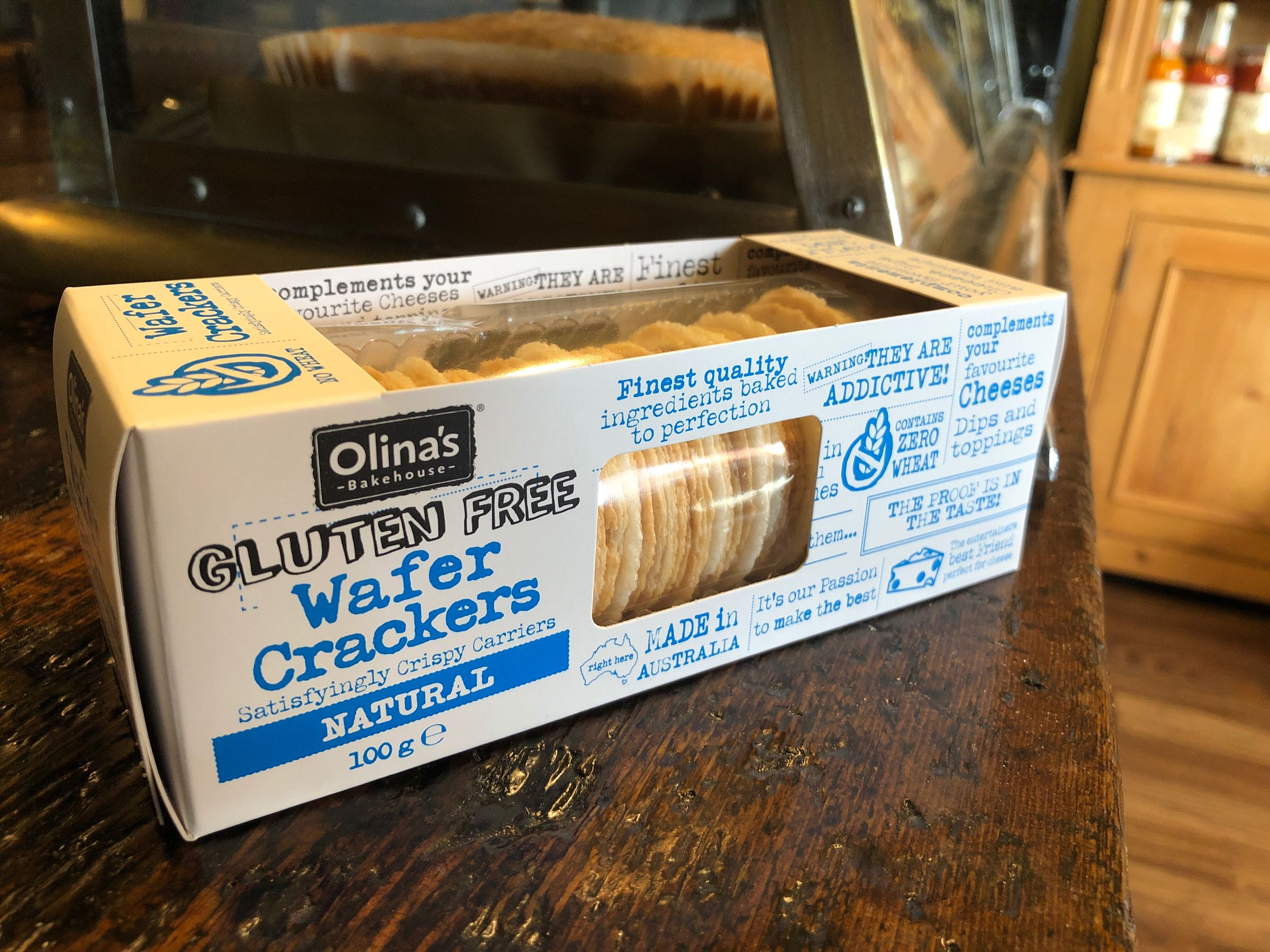 Olina's Gluten Free Wafer Crackers