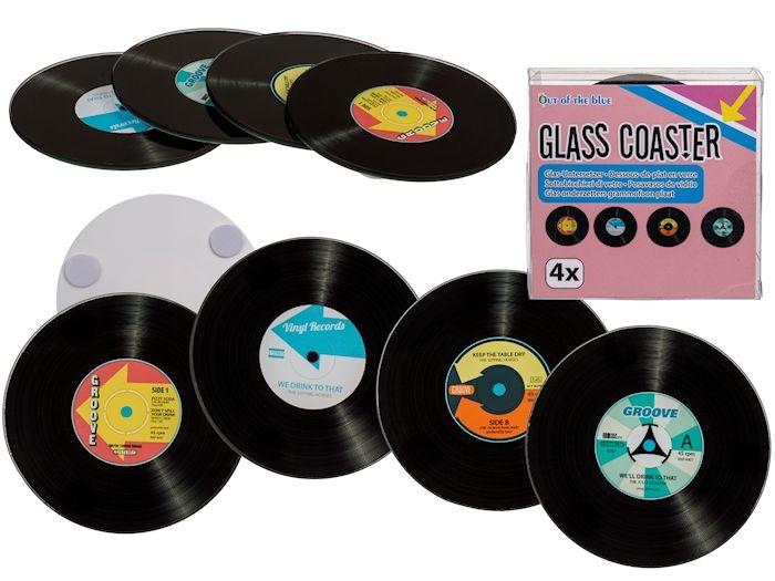 *Sale* Glass Record Coasters