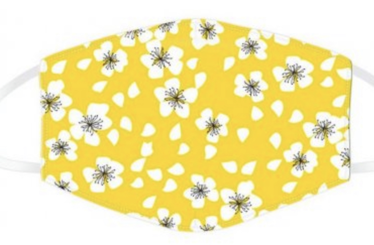 Floral Yellow Face Covering