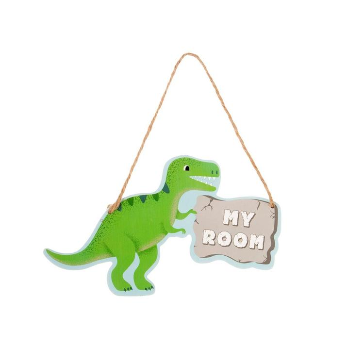 Dinosaur My Room Hanging Plaque