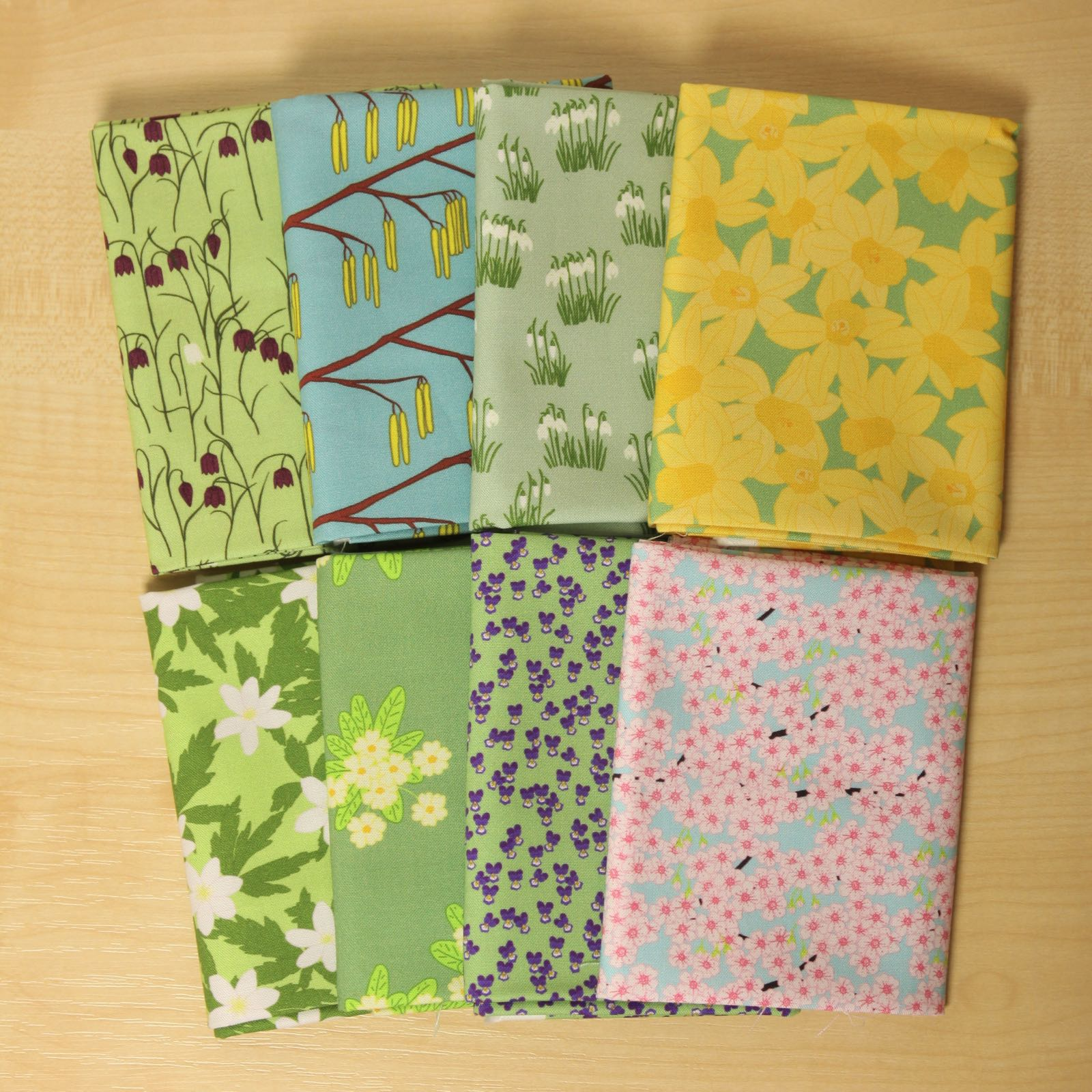 Spring garden fat quarter bundle