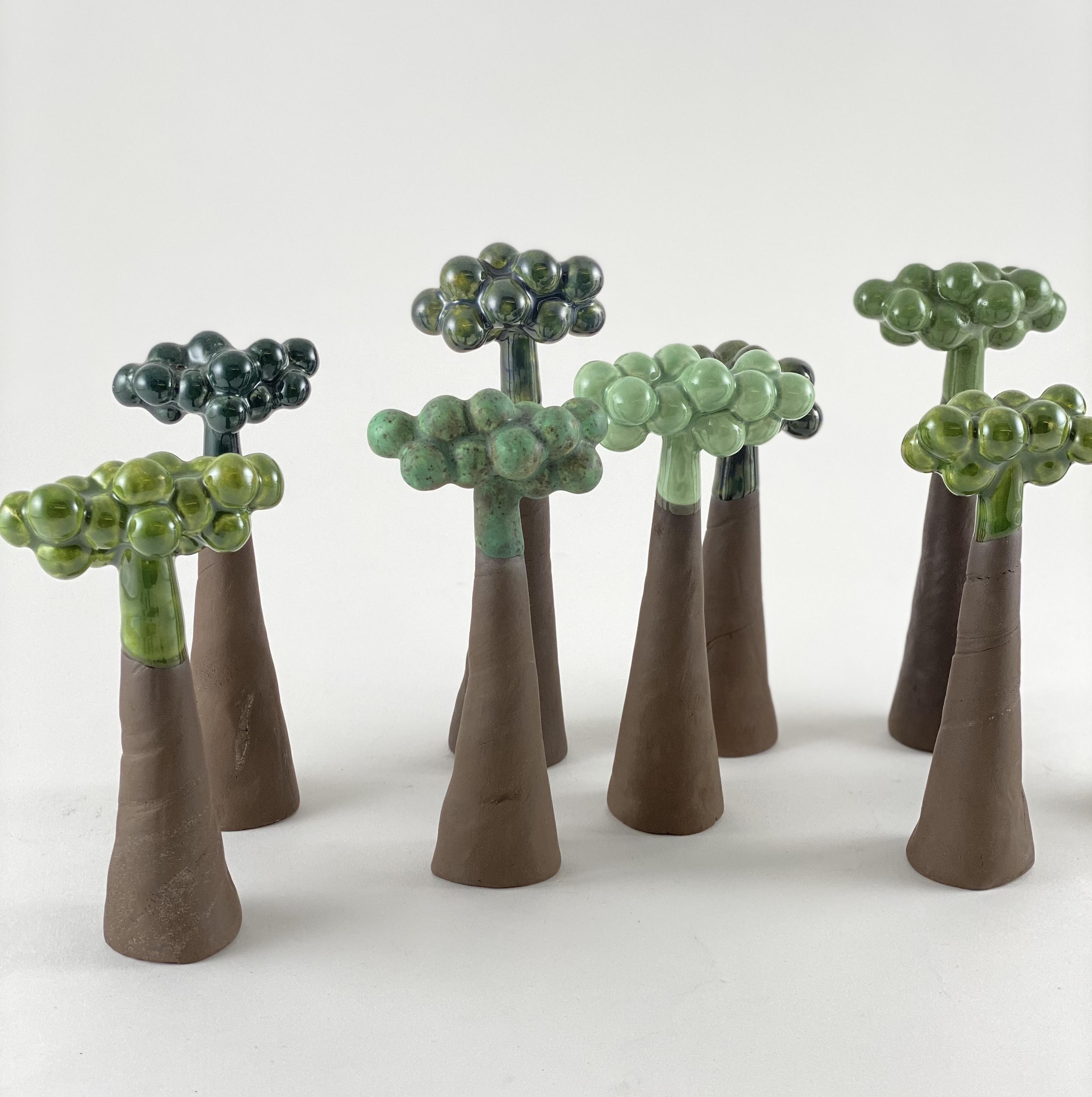 Skov // små grønne træer