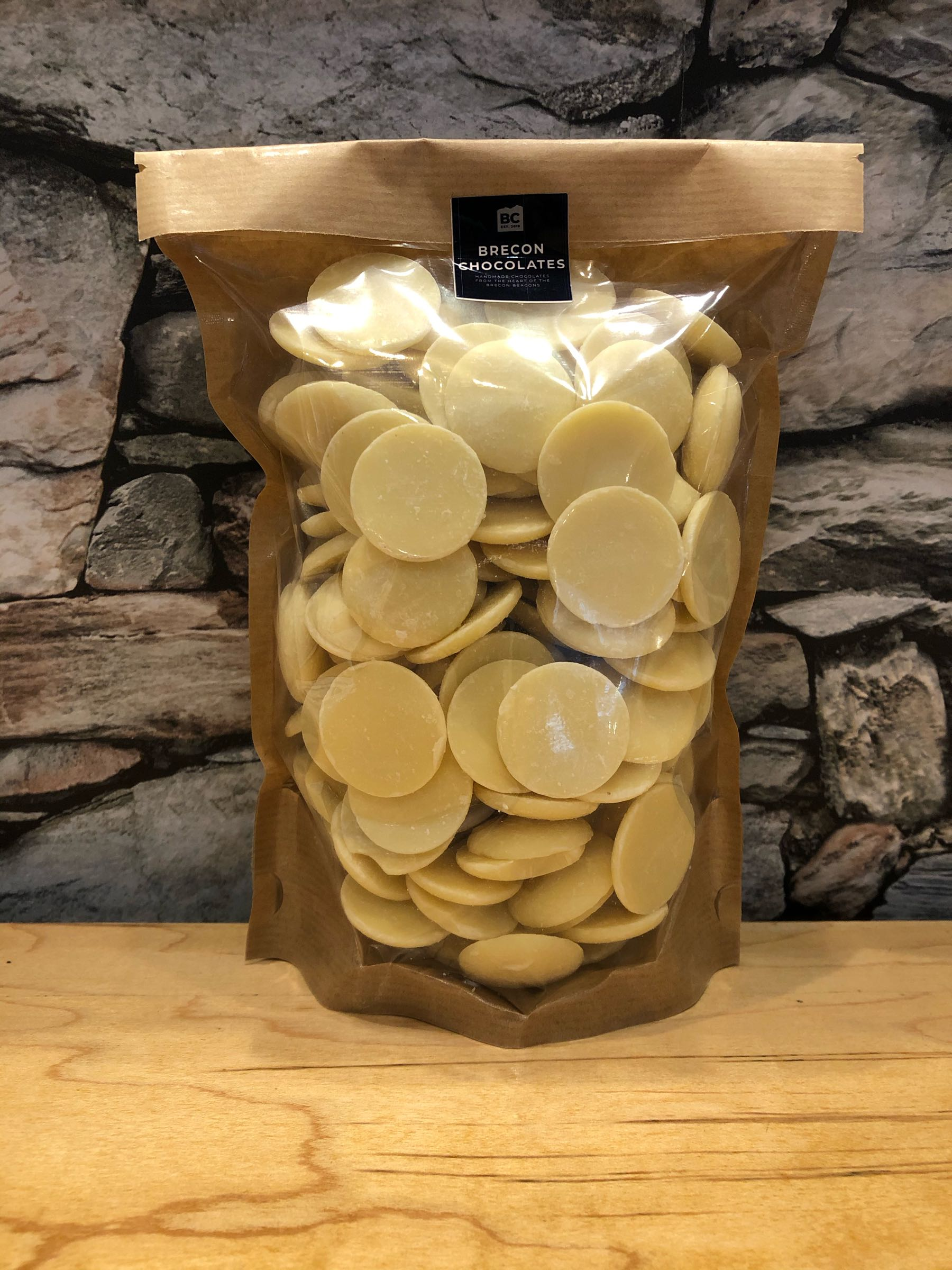 White Chocolate Cooking Buttons 500g bag.