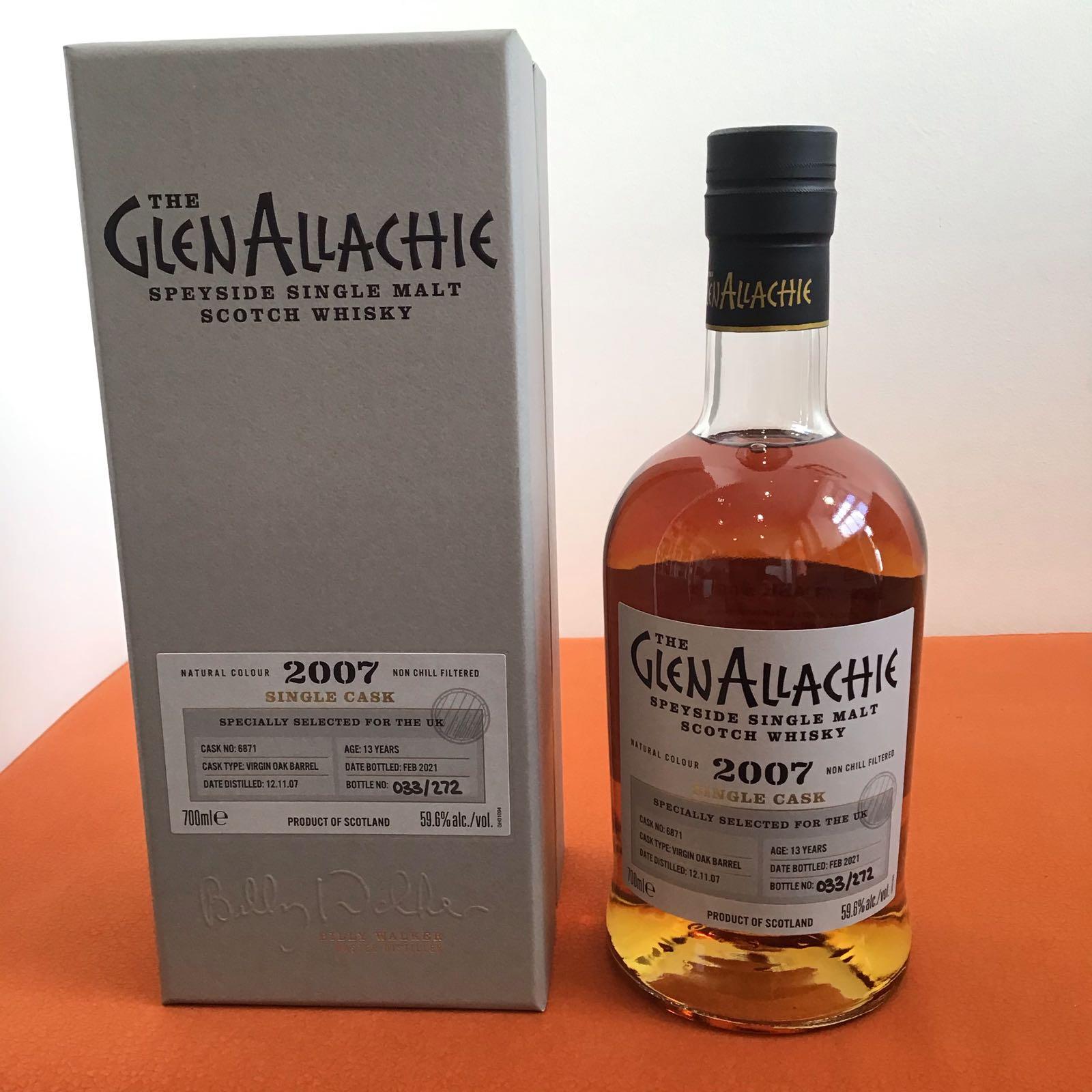 GlenAllachie Single Cask / Virgin Oak Barrel / 13 YO / Cask #6871