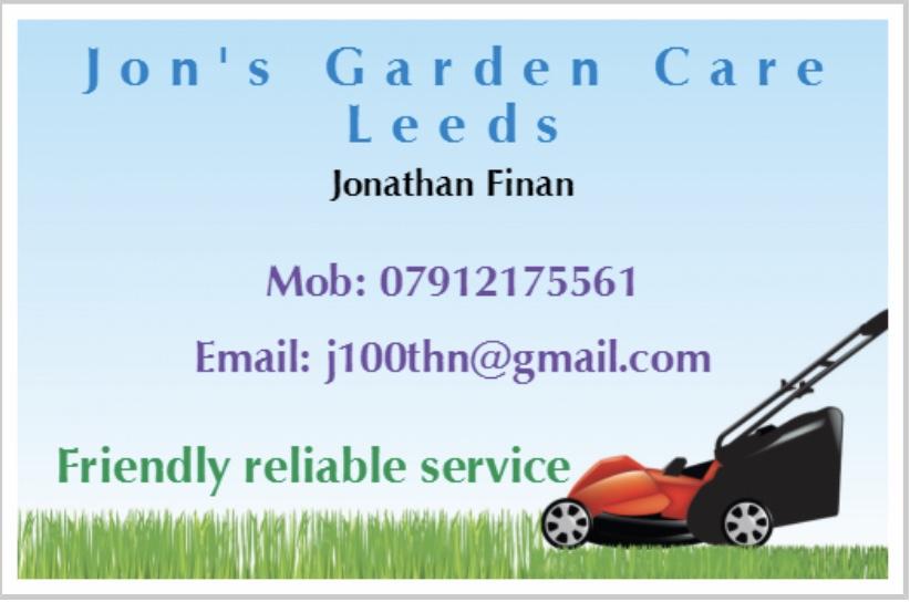 Jon's garden care