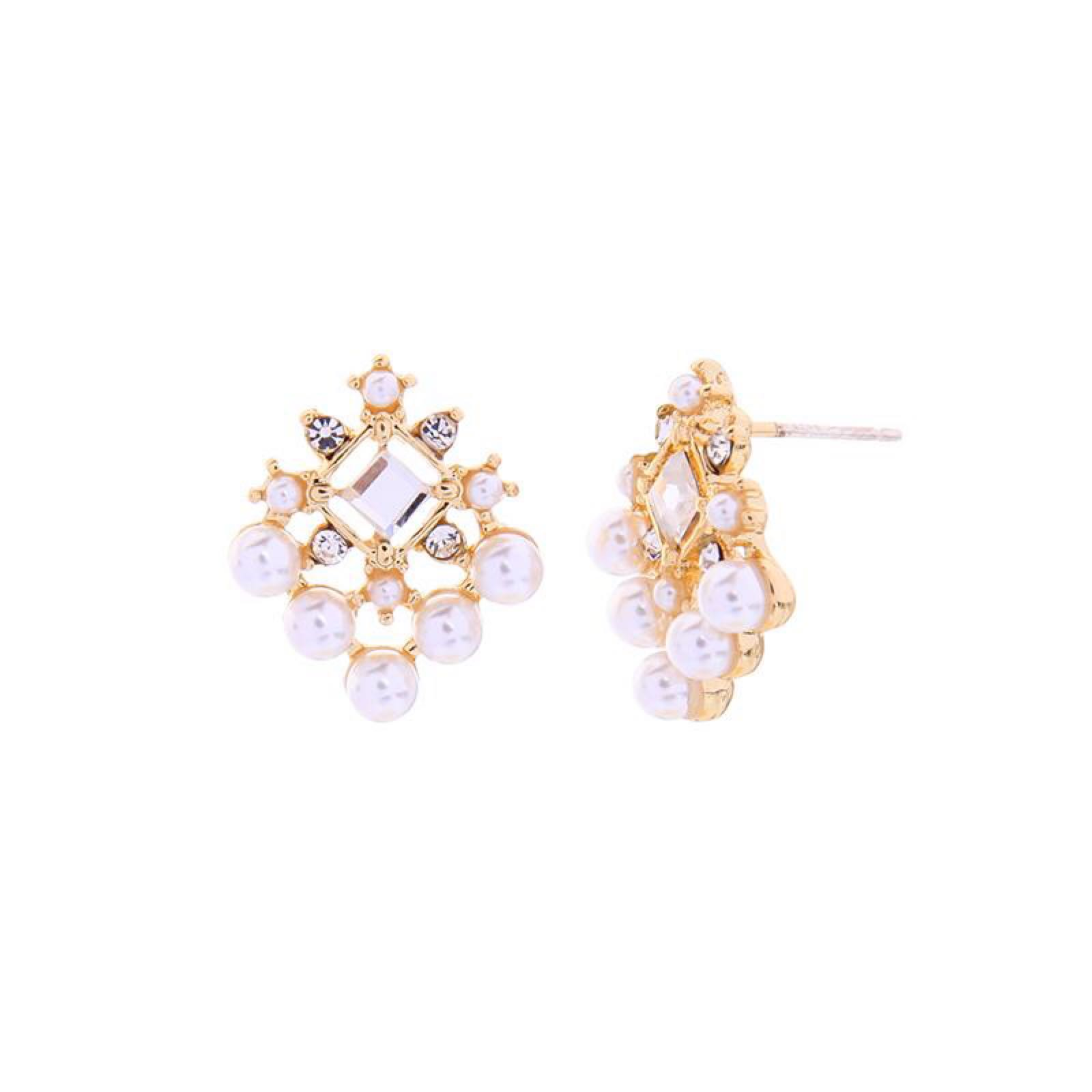 Last true angel crystal and pearl earrings LE287G