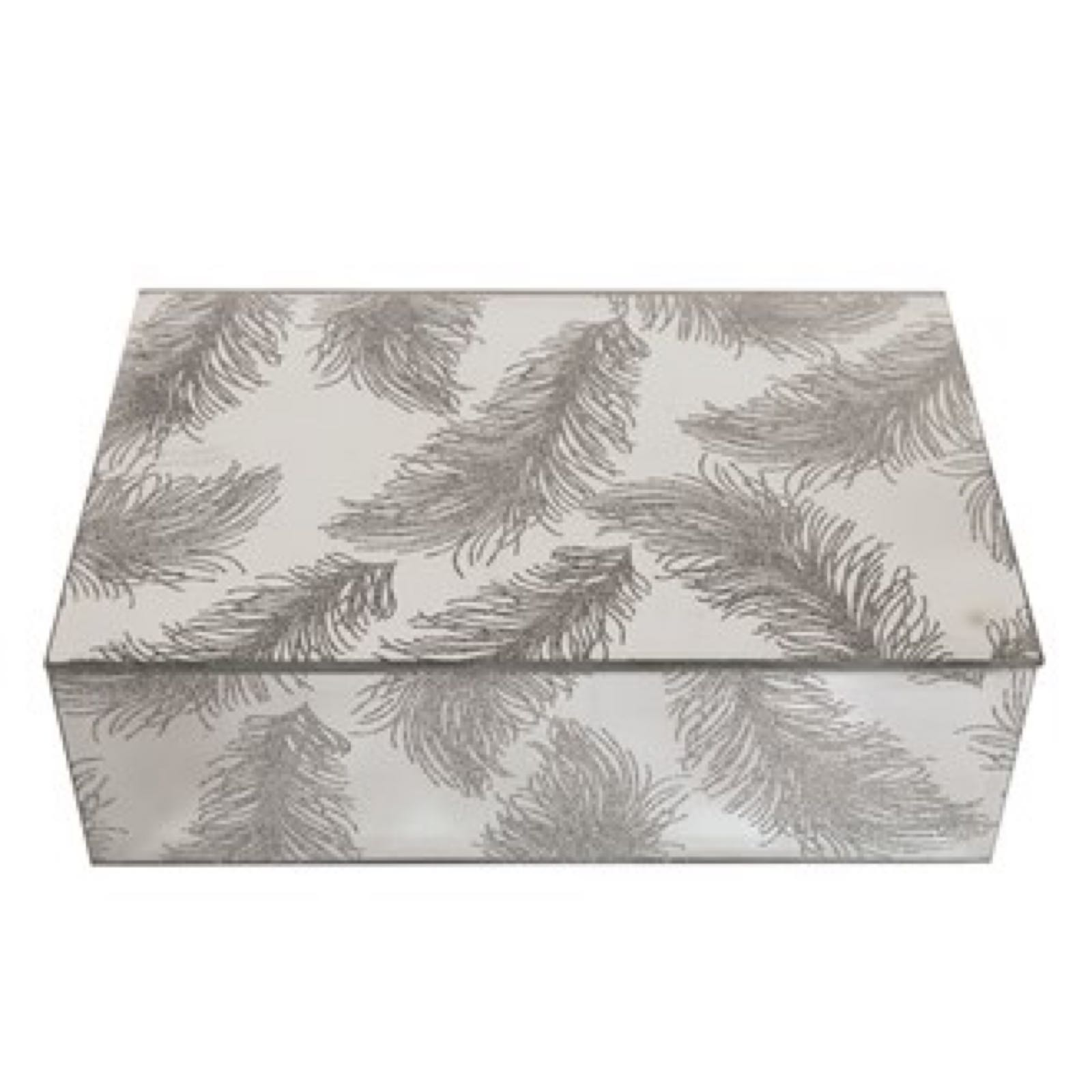 Straits feathered mirrored trinket box