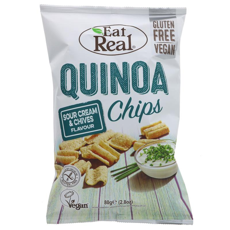 Eat Real - Quinoa Chips Sour Cream & Chives (80g)