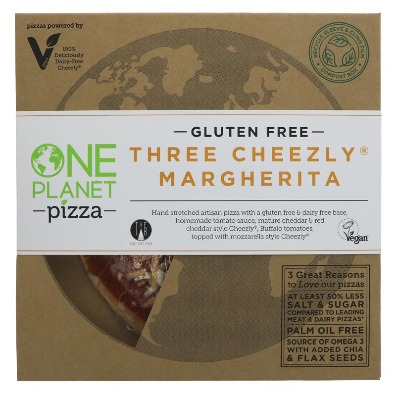 One Planet Pizza - Gluten Free Three Cheezly Margherita