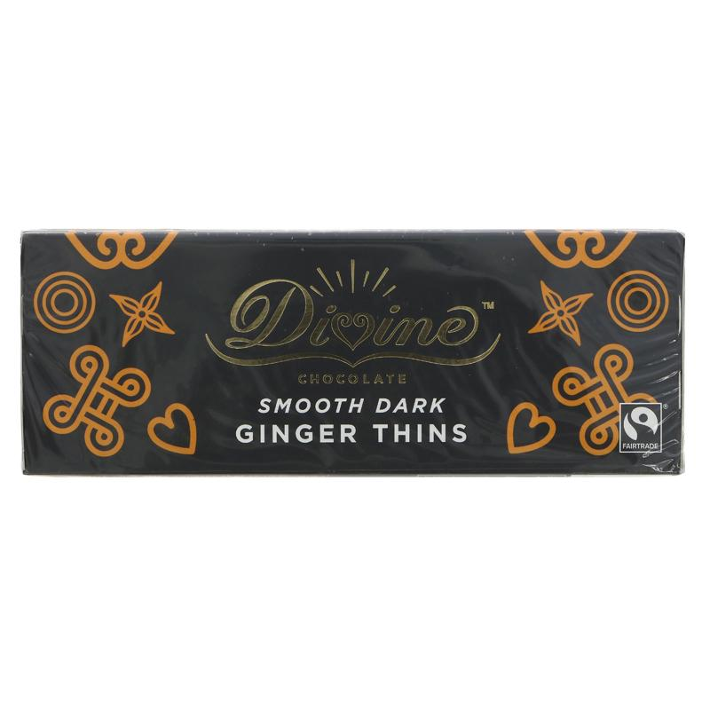 Divine - Dark Chocolate Ginger Thins