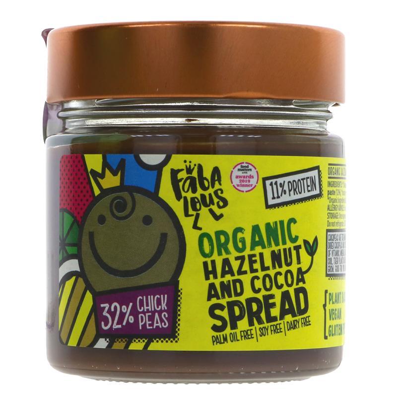 Fabalous Hazelnut & Cocoa Chickpea Spread
