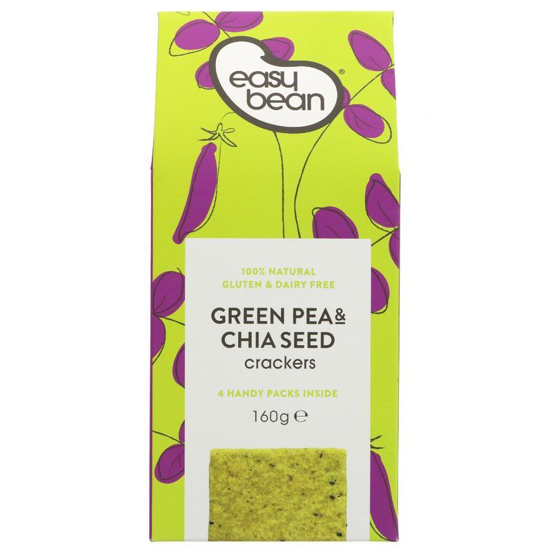 Easy Bean Green Pea & Chia Seed Crackers