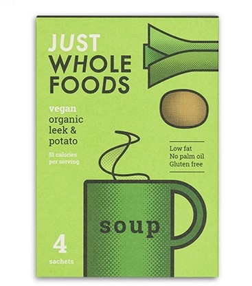 Just Wholefoods - Leek & Potato Soup (4 sachets)